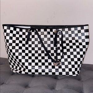Michael Kors Jet Set Checkerboard Tote